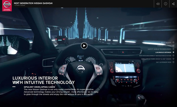 Next Generation Nissan website