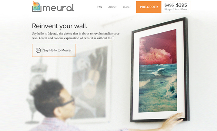 Meural: Digital Canvas website