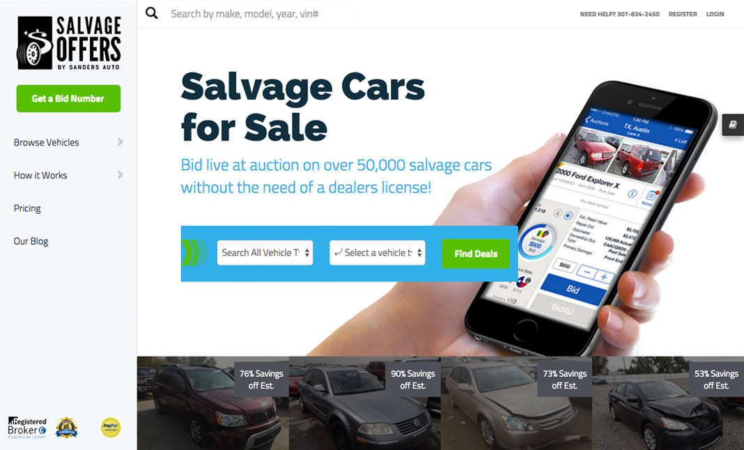 Salvage offers auto auctions designed by web adaptive for How to bid at a live auction