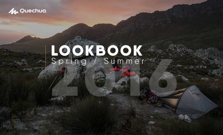 Quechua Lookbook 2016 website