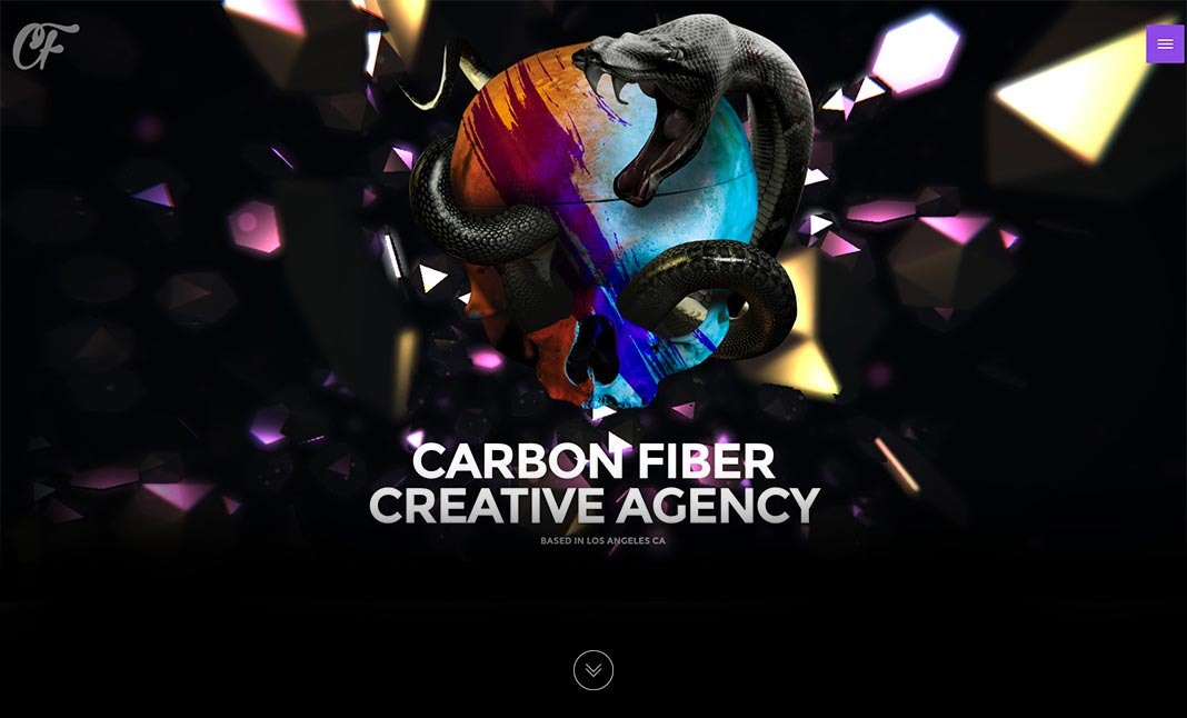 Carbon Fiber Creative website