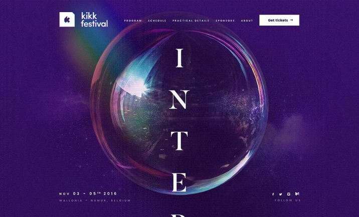 KIKK Festival 2016 website