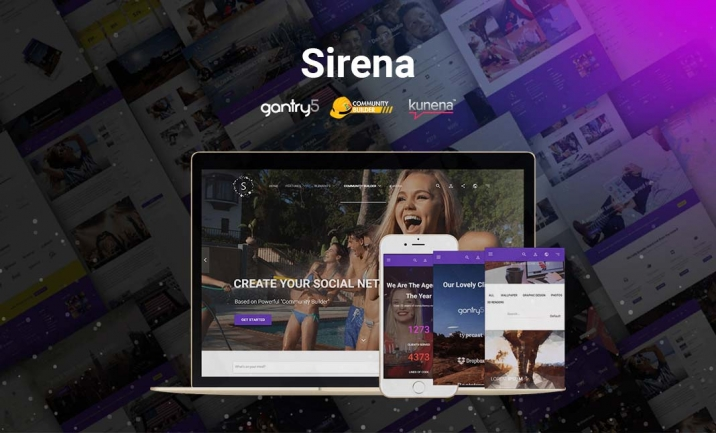 Sirena | Material Design Theme website