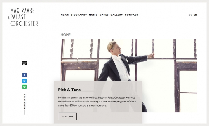 Max Raabe & Palast Orchester website