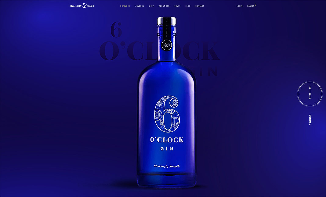 6 O'Clock Gin website