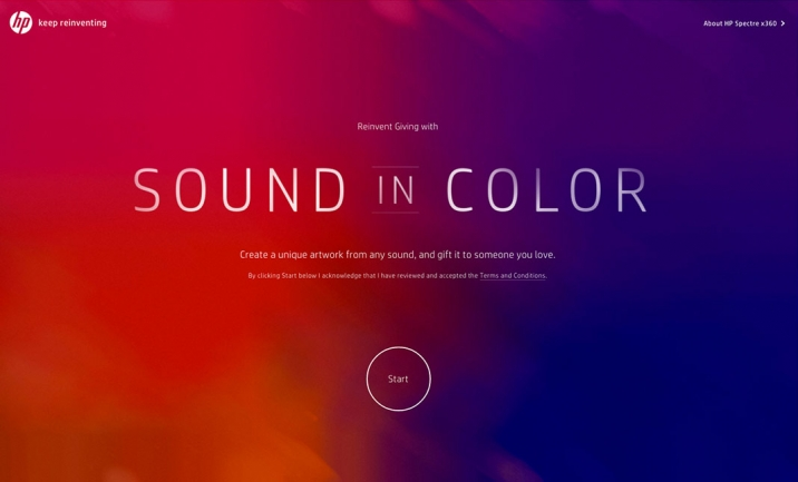 HP Sound in Color website