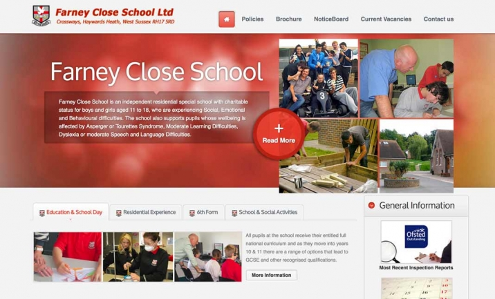 Farney Close School website