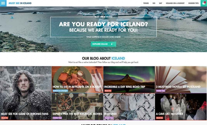 Must See In Iceland website