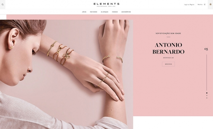 ELEMENTS - Contemporary Jeweller website