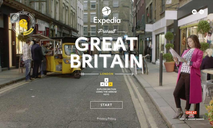 Expedia: Visit Britain website