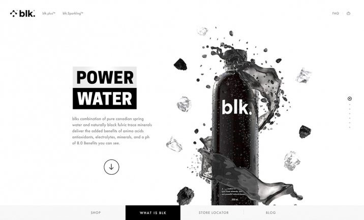 BLK Water website