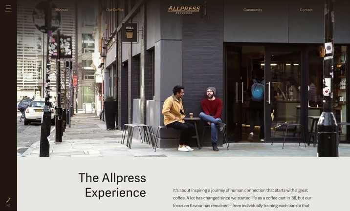 Allpress Espresso website