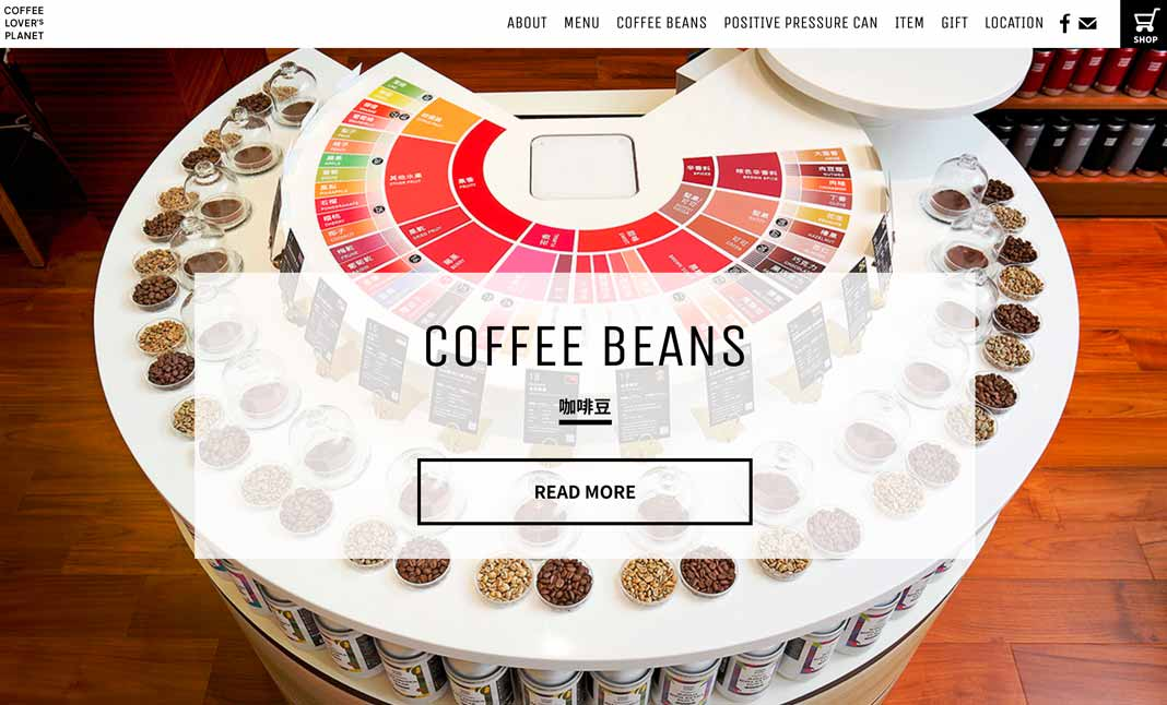 COFFEE LOVER's PLANET website