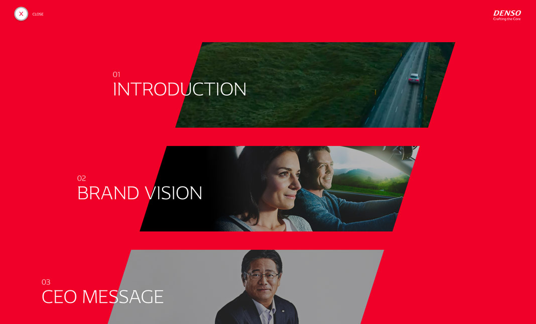 DENSO Brand Site website