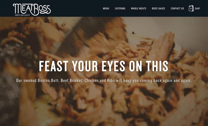 Meat Boss website