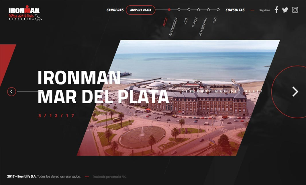 IRONMAN Argentina website