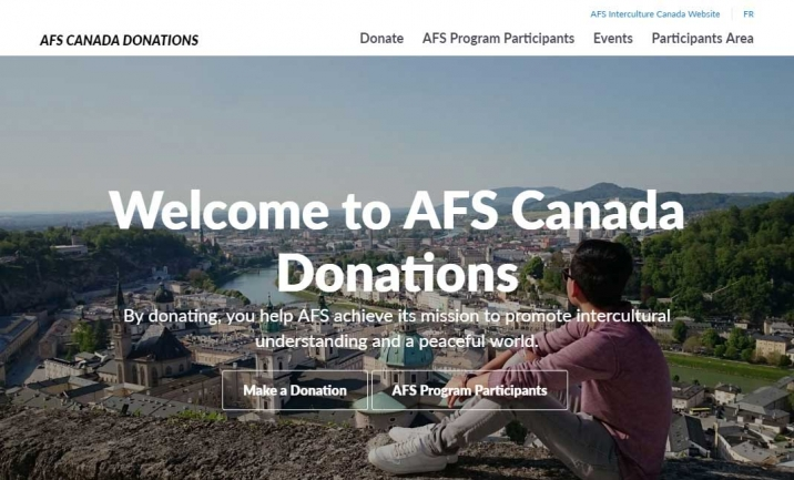 AFS Canada Donations website
