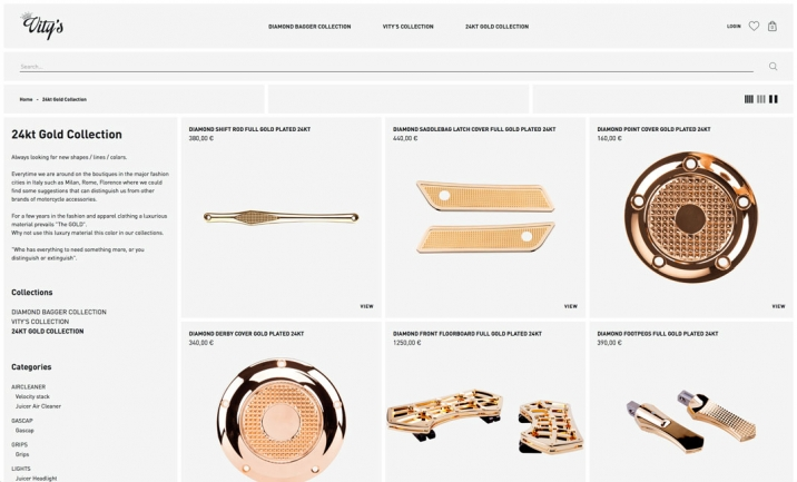 Vitys Design Shop website