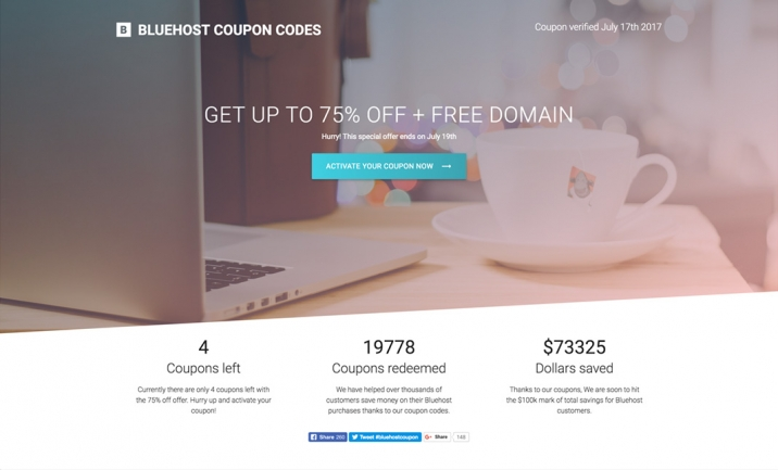 Bluehost Coupon Codes website