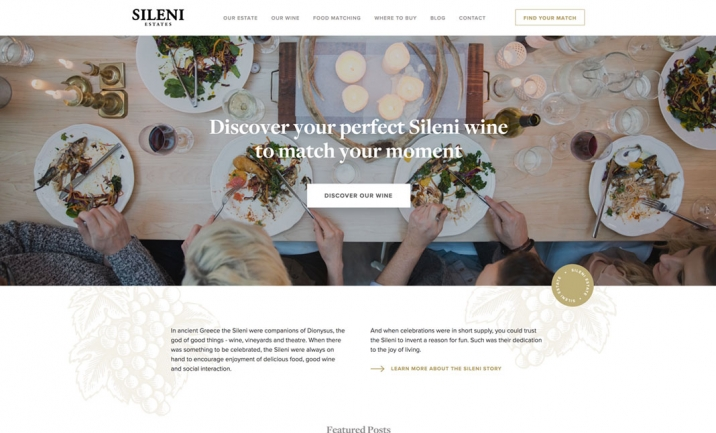 Sileni Estates website