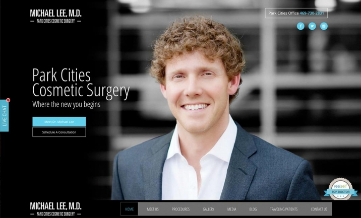 Park Cities Cosmetic Surgery website