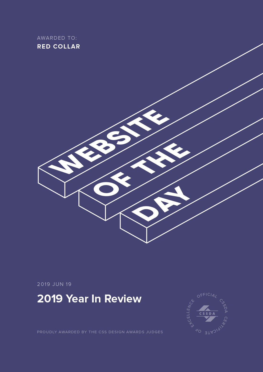 Website of the Day Award Certificate