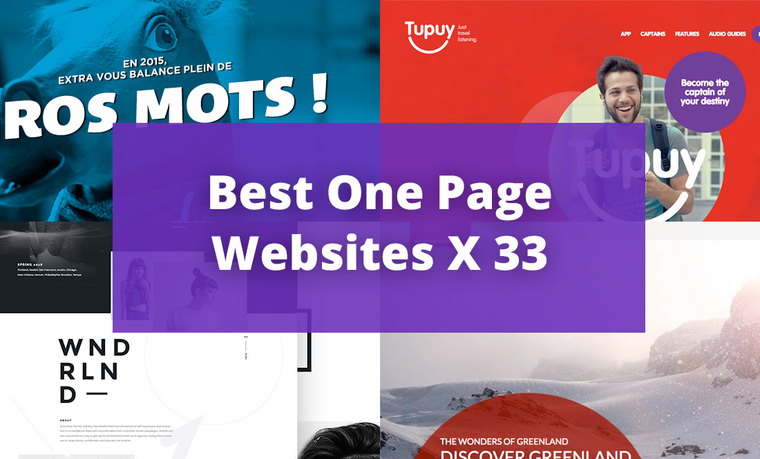 33 Best One Page Websites of 2015