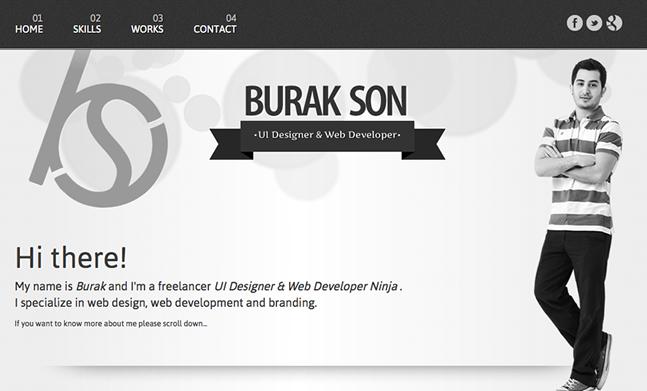 Burak Son Portfolio designed by Burak Son