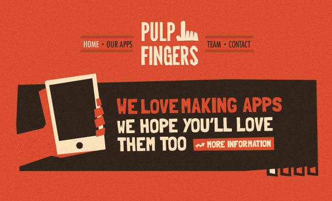 Pulpfingers website