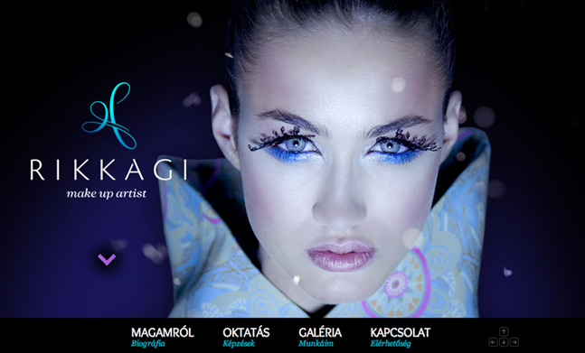 RikkAgi makeup artist designed by Graphasel Design Studio