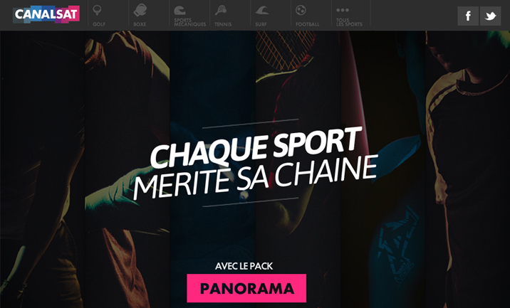 Canalsat sport website