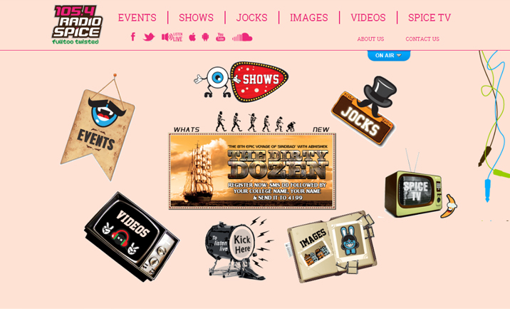Radio Spice FM website