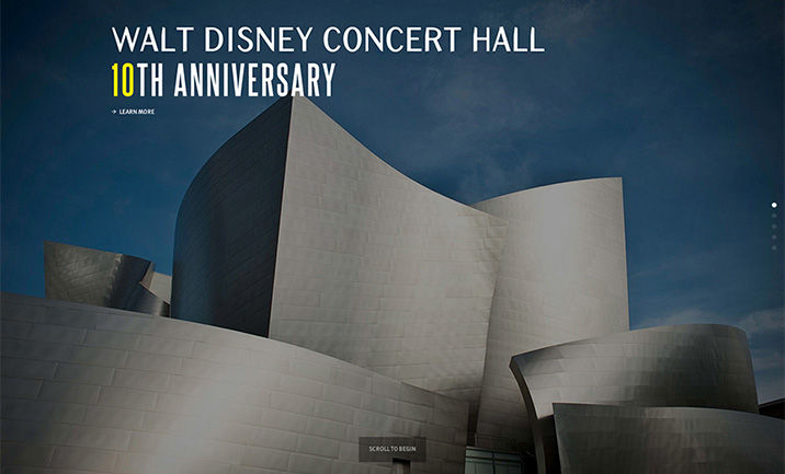 Disney Concert Hall  website