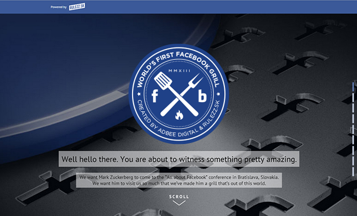 The Facebook Grill website