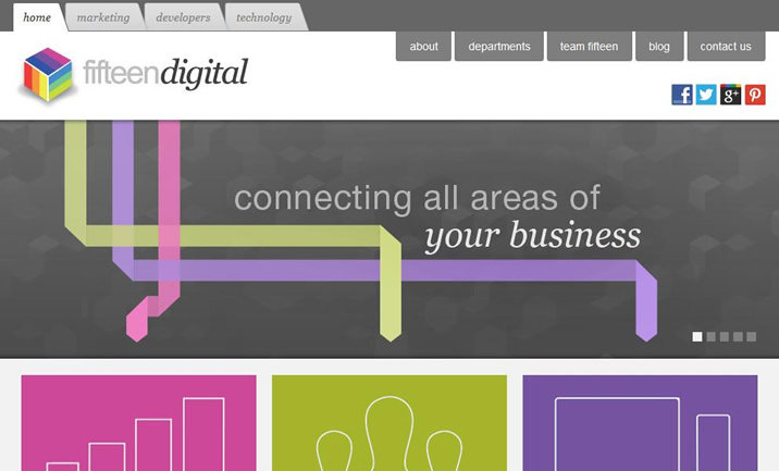 Fifteen Digital website