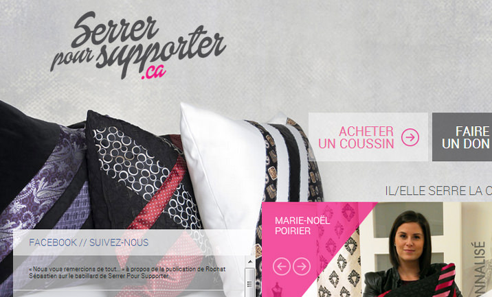 Serrer pour supporter website