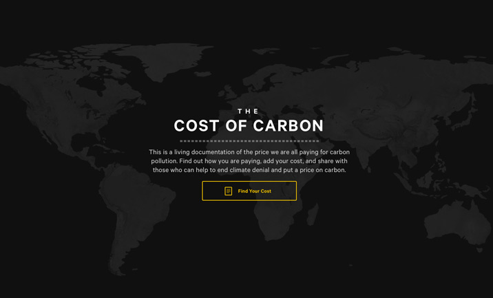 The Cost of Carbon website