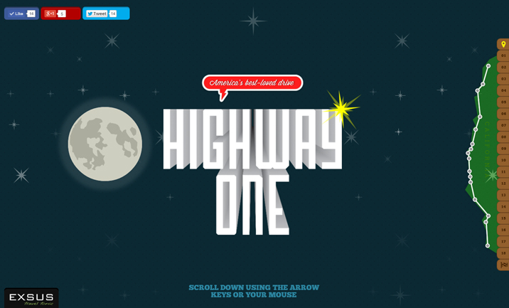 Exsus Highway One website