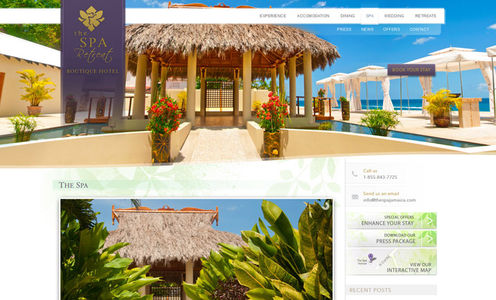 The Spa Retreat  website