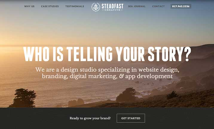 Steadfast Creative website