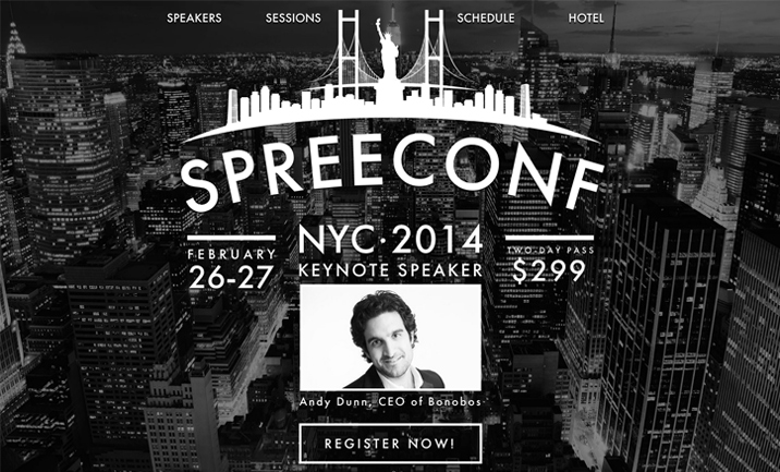 SpreeConf website