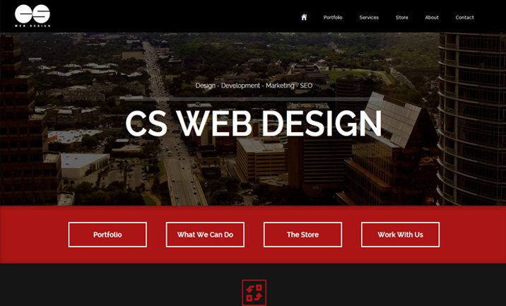 CS Web Design website