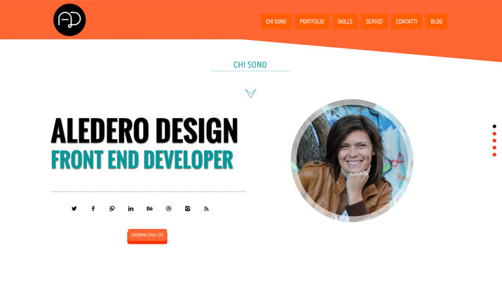 Alederodesign website