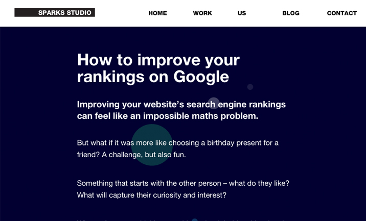 Improve Google Rankings website
