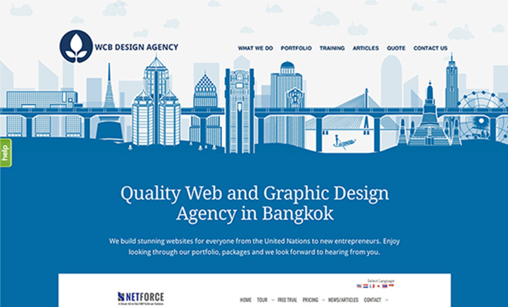 WCB Design Agency website