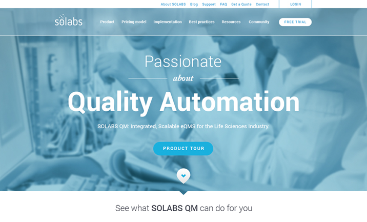 SOLABS QM website