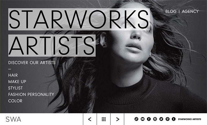 Starworks Artists website