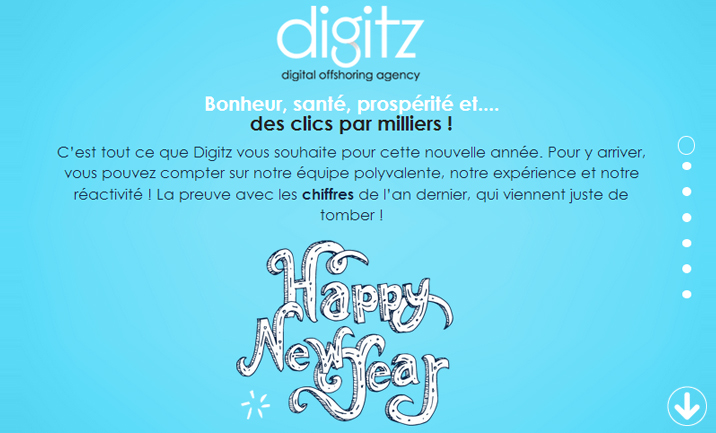 Voeux Digitz 2014 website
