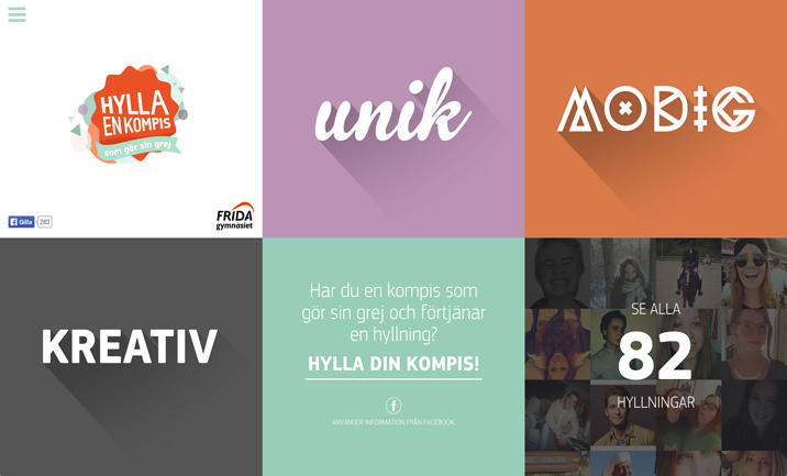 Hylla en kompis website