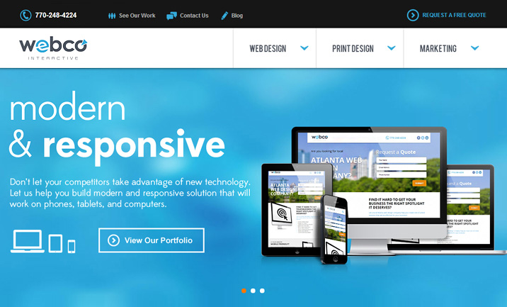 WebCo Interactive website